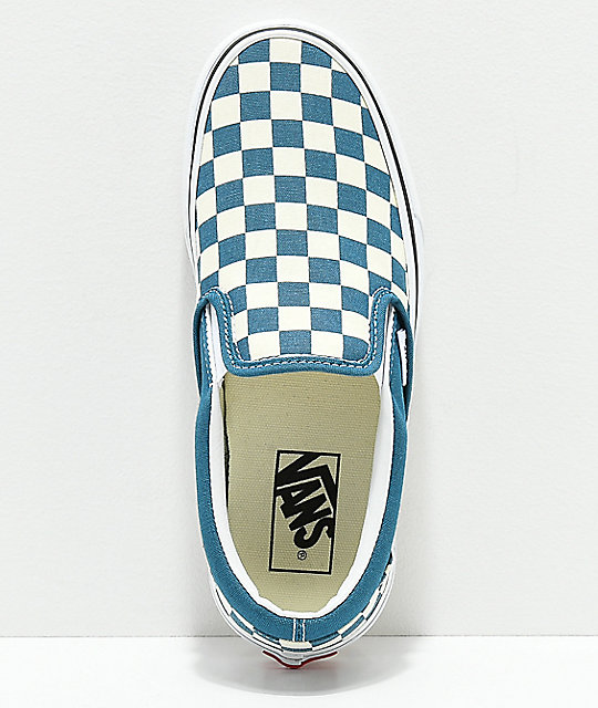 dc4a7dfb46e7 ... Vans Classic Slip-On Corsair   White Checkerboard Shoes ...