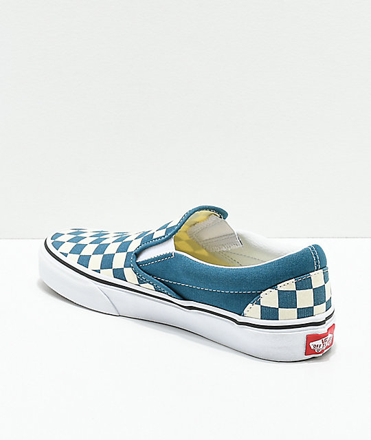 d02e57858c5 ... Vans Classic Slip-On Corsair   White Checkerboard Shoes ...