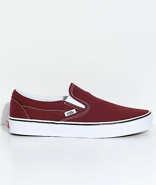vans slip on shoes brown
