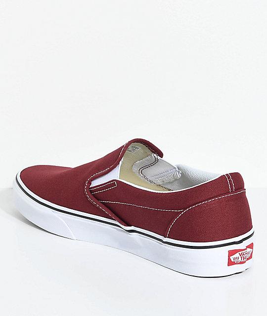 2c64bdd110 ... Vans Classic Slip-On Madder Brown Skate Shoes ...