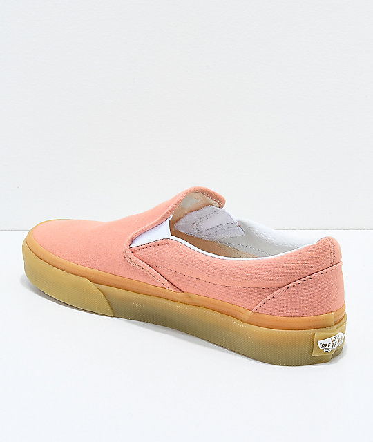 2dc380927a ... Vans Classic Slip On Muted Clay   Gum Shoes ...