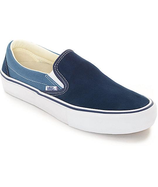 vans pro classic slip on