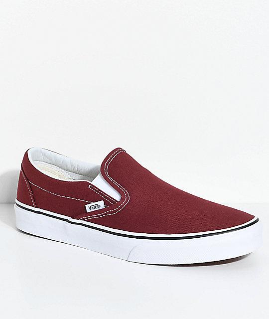 Zapatos rojos Vans Slip On Classic para hombre TZimQpI