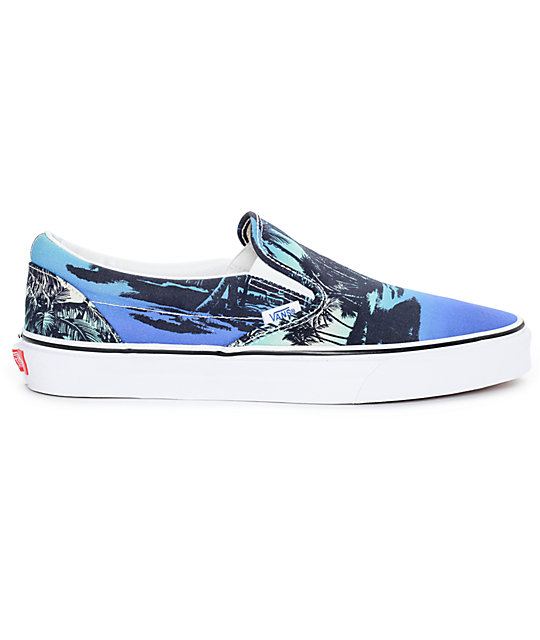 fcf286c100a ... Vans Classic Van Doren Hoffman Blue Slip On Shoes