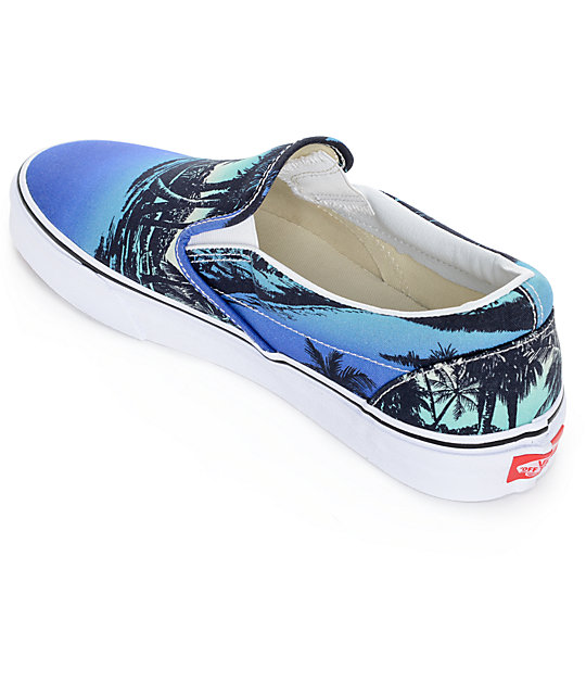 c646c5b3fa5 ... Vans Classic Van Doren Hoffman Blue Slip On Shoes ...