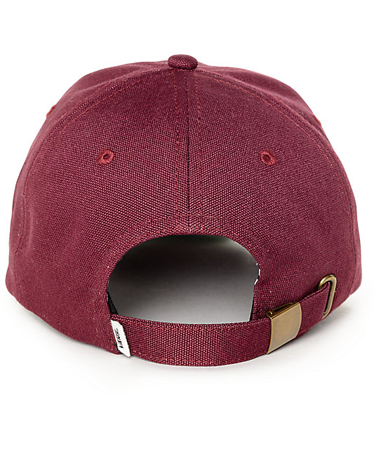 ... Vans Court Burgundy Baseball Hat effcc3442a0