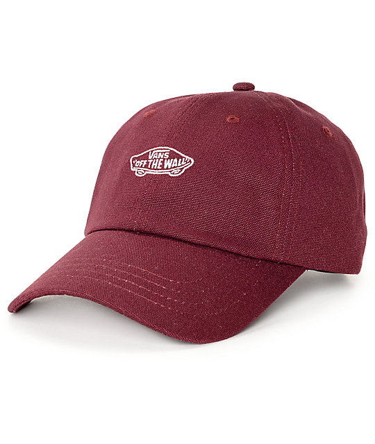 Vans Court Burgundy Baseball Hat  ee4759ede75