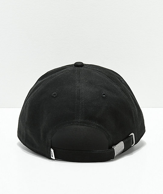 ae67cfd9 Vans Court Side Black Strapback Hat