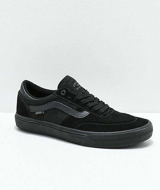 cce4a3b9 Vans Crockett 2 All Black Skate Shoes