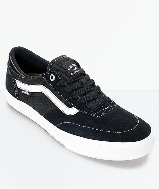 9b11949d Vans Crockett 2 Black & White Shoes