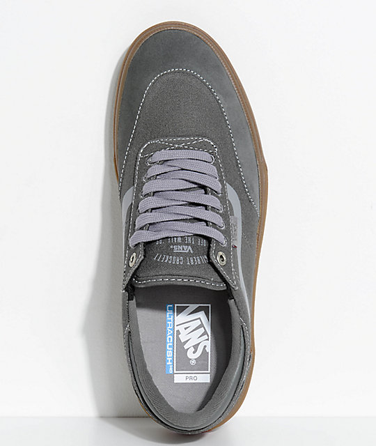 1b14349b39 ... Vans Crockett 2 Gunmetal   Gum Skate Shoes ...