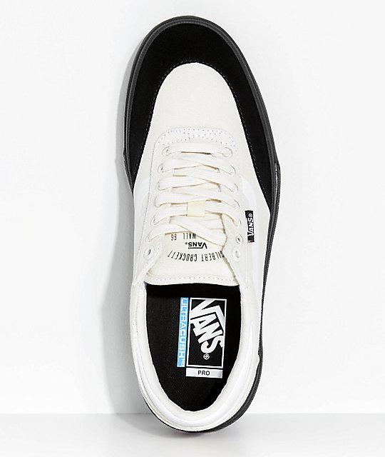 e11d671ec926b3 ... Vans Crockett 2 White   Black Skate Shoes ...