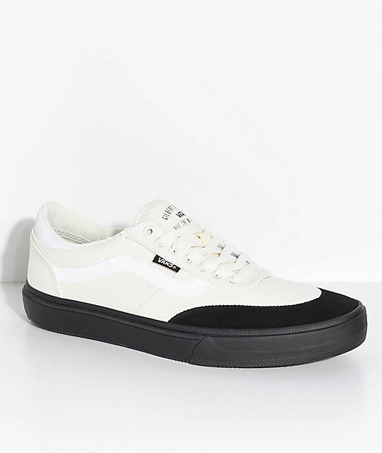 1df5ffb6f986b Vans Crockett 2 White   Black Skate Shoes ...