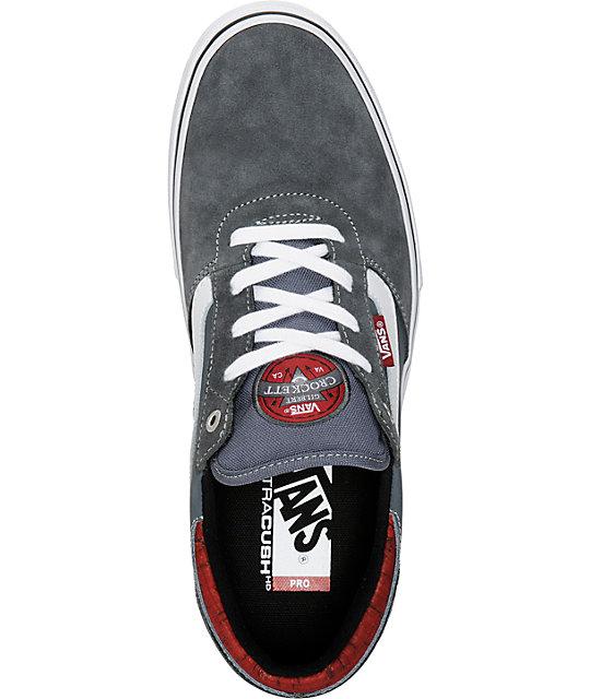 9afd0ca4dea995 ... Vans Crockett Pro Cork Dark Grey Skate Shoes ...