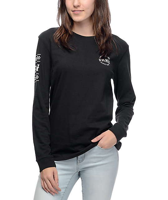 vans long sleeve top womens
