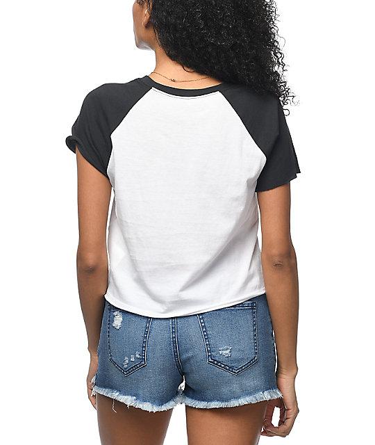 3edfd4ede16c06 ... Vans Cut Off Black   White Raglan T-Shirt