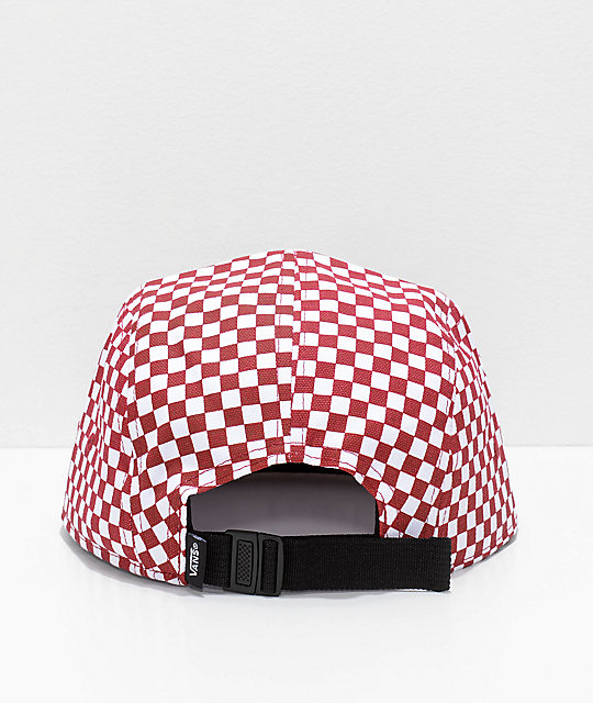 3a98efe0 Vans Davis Red & White 5 Panel Hat | Zumiez.ca