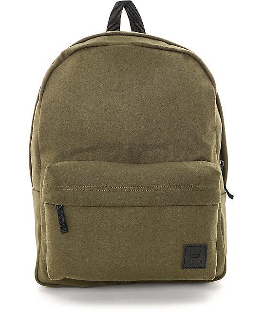 Vans Deana II Ivy Green Wool Backpack ...