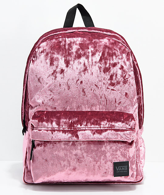 36f95e4050 Vans Deana III Dry Rose Velvet 22L Backpack
