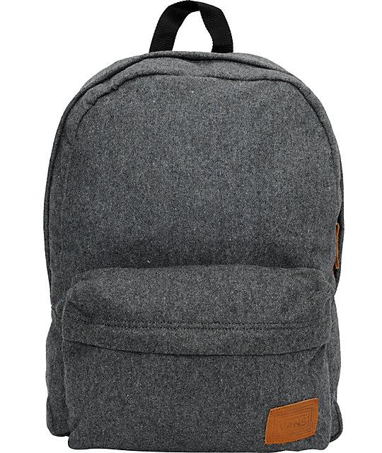 Vans Deana Pack Grey Wool Backpack