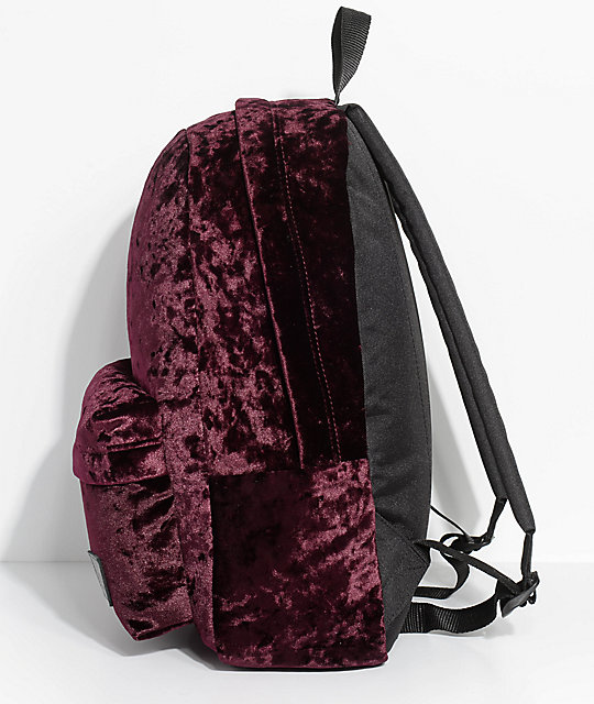Vans Deanna II Burgundy Velvet 22L Backpack