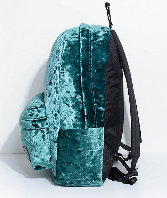d81485334eb ... Vans Deanna Jade Green Velvet 22L Backpack ...