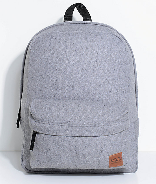 Vans Deanna Light Grey Wool 22L Backpack