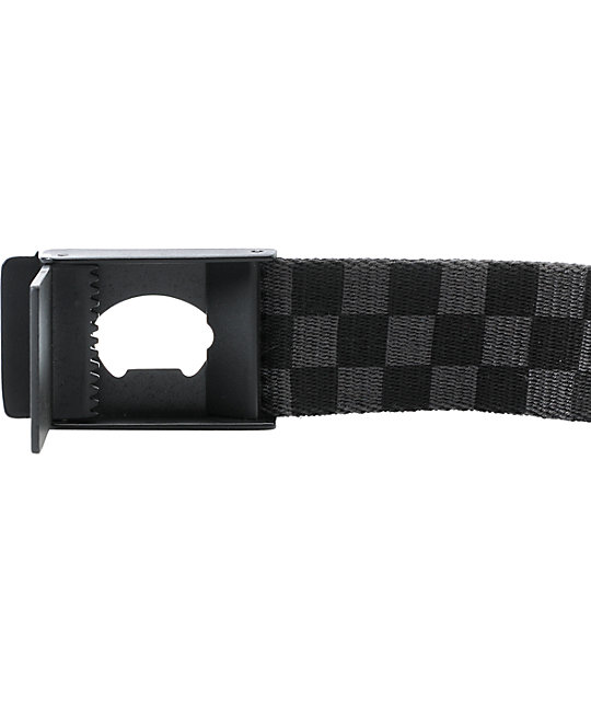 00d4a746ead7 ... Vans Deppster Black   Charcoal Checkered Belt ...