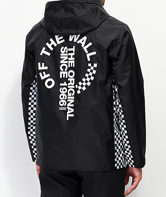55e32eeb8c Vans Distorted Off The Wall Black Anorak Jacket