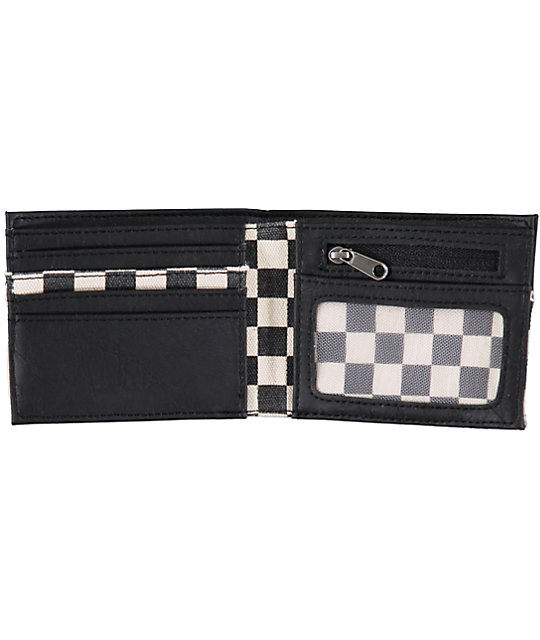 Vans Doheny Black & White Checkered Bifold Wallet