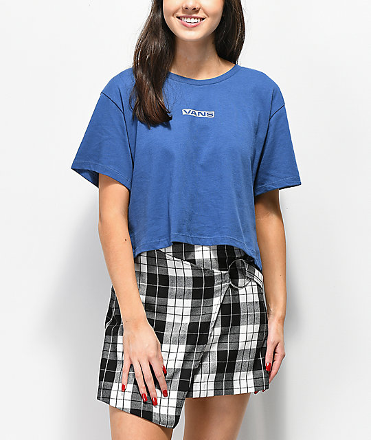 Vans Drop 66 Blue Crop T-Shirt