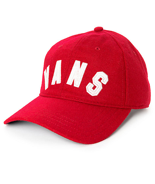 Vans Dugout Red Dahlia Unstructured Baseball Hat  f3ded2fdde3