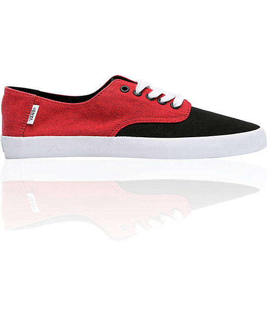 Vans E-Street Red & Black Skate Shoes