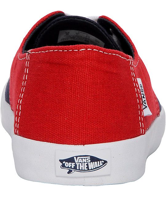 Vans E Street Red & Blue Skate Shoes