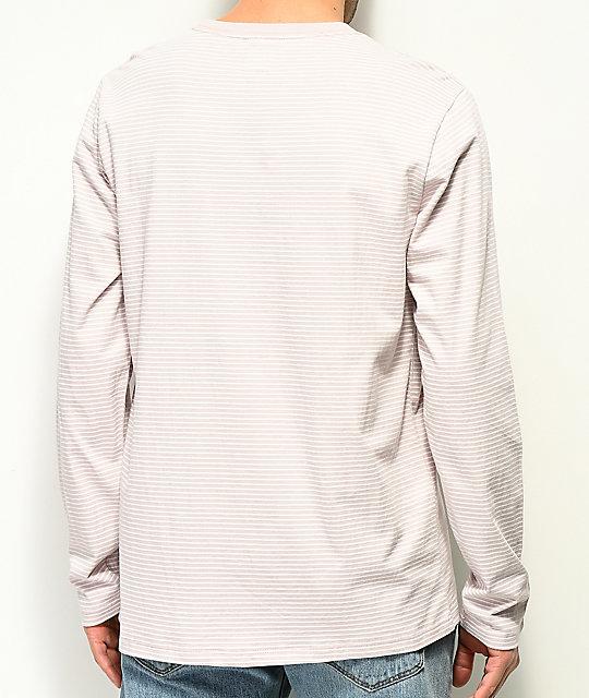bbdbf329cd Vans Engineered White   Violet Ice Striped Long Sleeve Knit Shirt ...