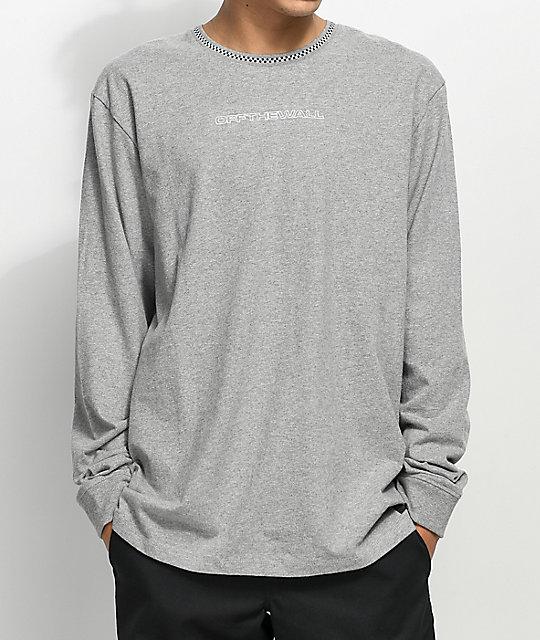 b28c667c1306 Vans Ensign Heather Grey Long Sleeve Knit T-Shirt