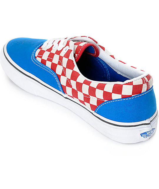 Vans Era 2-Tone Checkered Blue & White Skate Shoes