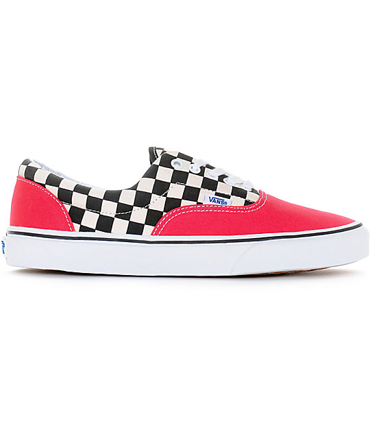 Vans Era 2-Tone Checkered Red & White Skate Shoes