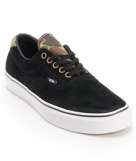 1ab2175797d386 Vans Era 59 Black   Camo Skate Shoes