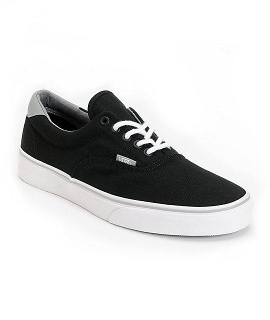 d619e4cd7e98 Vans Era 59 Black   Grey Canvas Skate Shoes