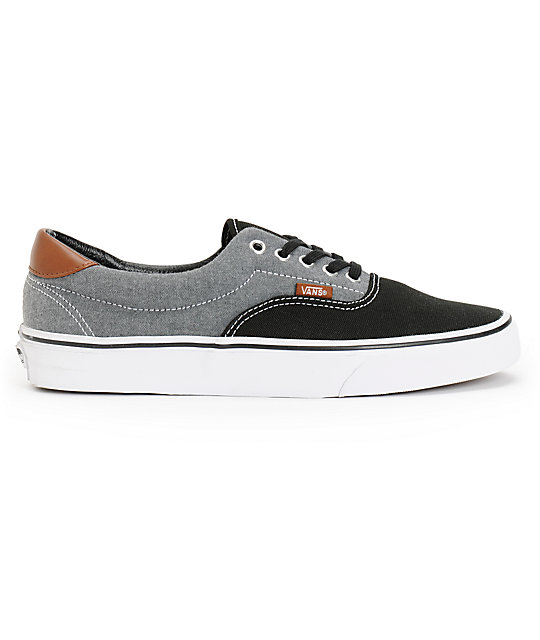 d086fa91cd ... Vans Era 59 Black Canvas   Chambray Skate Shoes