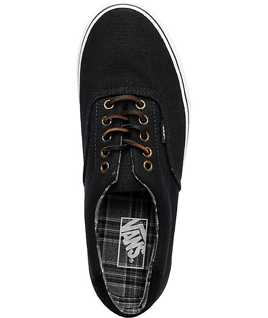 Vans Era 59 Black Canvas Skate Shoes