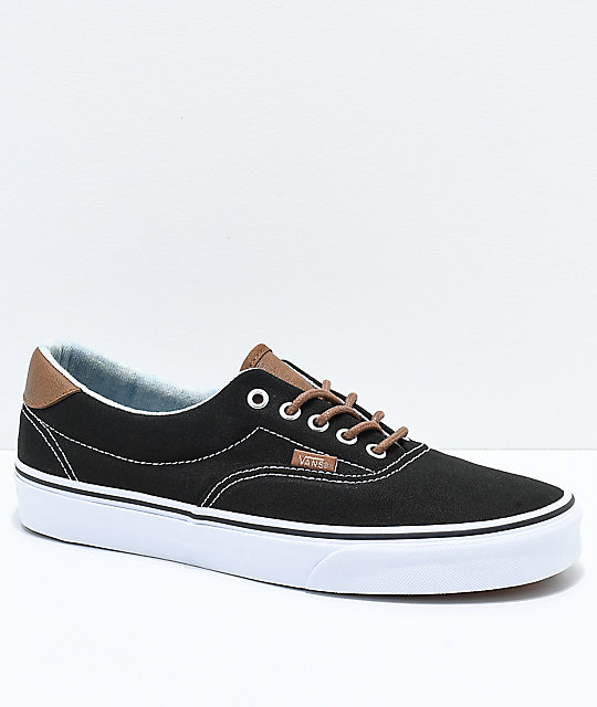 ff50b5313f Vans Era 59 C L Black   Acid Denim Skate Shoes