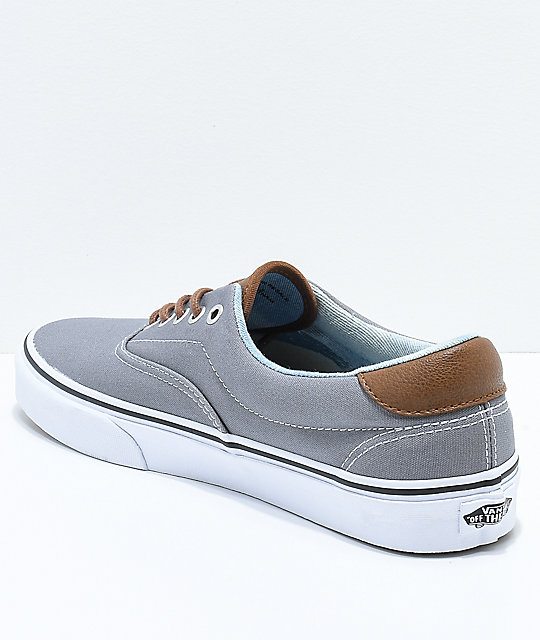Vans Era 59 C&L Frost Grey & Acid Denim Skate Shoes