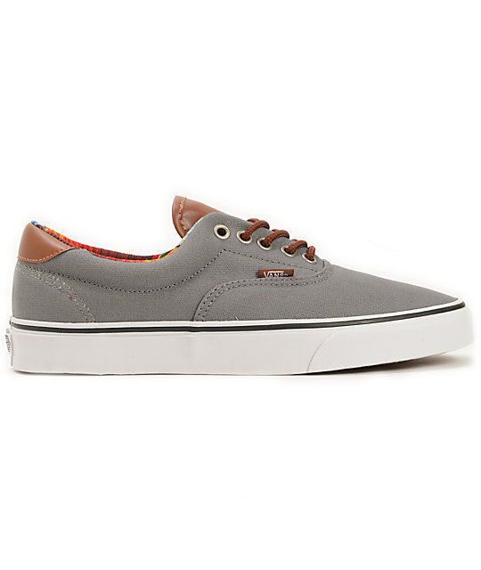 Vans Era 59 C&L Steel Grey & Multi Stripe Skate Shoes