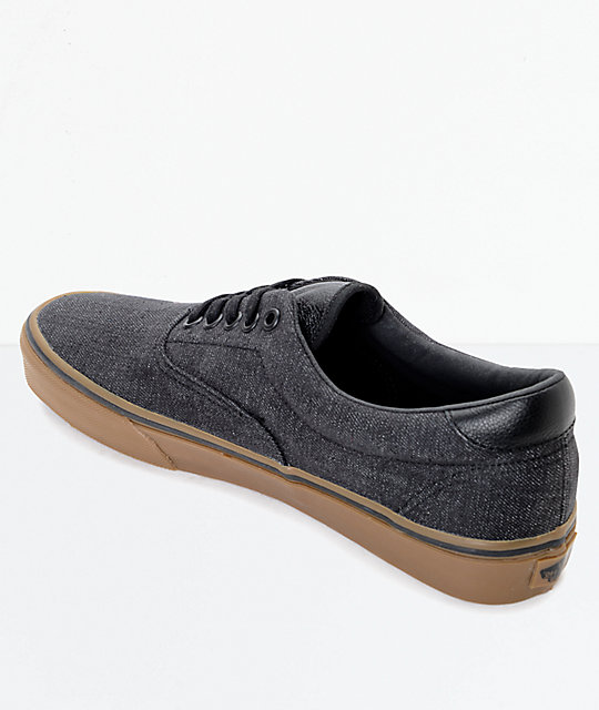 ... Vans Era 59 CL Black Denim   Gum Skate Shoes ... fb370a431