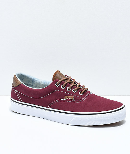 Vans Era 59 CL Port Royale   Blue Washed Skate Shoes  4864736e5