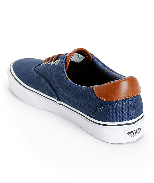 Vans Era 59 Dress Blues & Paisley Skate Shoes