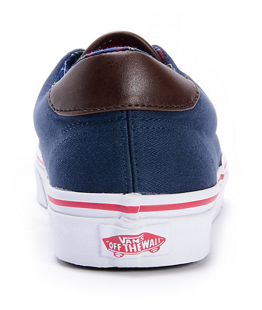 Buy vans era 59 blue brown   OFF44% Discounts 33a8d49c21d