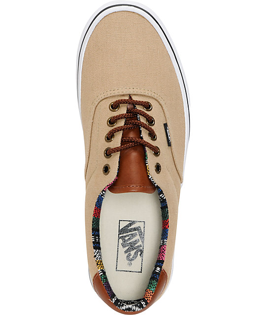 Vans Era 59 Khaki & Guate Canvas Skate Shoes
